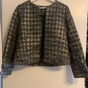 J. Crew silver metallic tweed blazer 8 collection